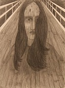 Landmark Drawings - Troubled Bridge by Joyce  Lawhorn