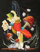 Alice In Wonderland Paintings - Trout by Amy Burczyk