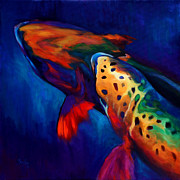 Fish Art Prints Framed Prints - Trout Dreams Framed Print by Mike Savlen