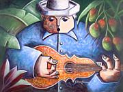 Trovador De Mango Bajito Print by Oscar Ortiz