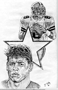 Dallas Drawings - Troy Aikman by Jonathan Tooley