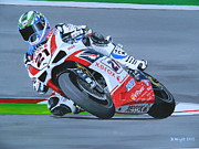 Motogp Prints - Troy Bayliss Print by David Wright