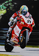 Xerox Framed Prints - Troy Bayliss Framed Print by Karl Hamilton-Cox