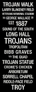 Trojan Prints - Troy College Town Wall Art Print by Replay Photos