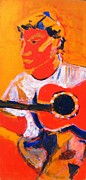 Guitars Paintings - Troy on Ovation by Anita Dale Livaditis