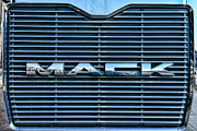 Rig Framed Prints - Truck - The MACK Grill Framed Print by Paul Ward