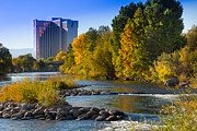 Truckee River From Sparks Print by Janis Knight