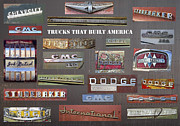 Logos Posters - Trucks That Built America Poster by Daniel Hagerman