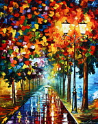 Palette Knife Painting Originals - True COlors by Leonid Afremov