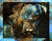 Boxer Dog Digital Art Metal Prints - True Colours Metal Print by Judy Wood