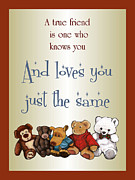 True Friendship Framed Prints - True Friendship And Teddy Bears Framed Print by Joyce Geleynse