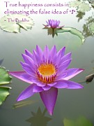 The Lotus Flower Prints - True Happiness Print by Gregory Smith