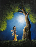 Fantasy Tree Art Prints - True Love Lasts Forever by Shawna Erback Print by Shawna Erback