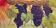 Grapevines Painting Prints - True Vine Print by Marianne Gonzales