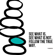 Zen Posters - True Way Poster by Linda Woods