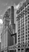 Chicago Skyline Bw Metal Prints - Trump and Wrigley in Harmony Metal Print by Christine Till