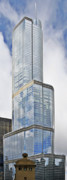 City Skylines Posters - Trump Tower Chicago - A surplus of superlatives Poster by Christine Till