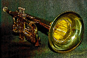 Trumpet Digital Art Metal Prints - Trumpet - 20130111 Metal Print by Wingsdomain Art and Photography