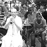 Music Art - #trumpet #krishnas #jazz #blackandwhite by Chris Moll