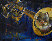 Musica Framed Prints - Trumpet Framed Print by Michael Creese
