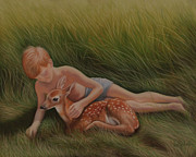 Deer Pastels - Trust by Holly Kallie