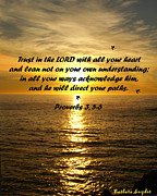 Scriptures Prints - Trust in the LORD  Print by Barbara Snyder