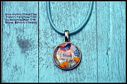 Glass Necklace Jewelry Posters - Trust in the Lord resin French franc pendant Poster by Carla Parris
