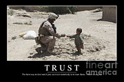 Trust Inspirational Quote Print by Stocktrek Images