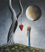 Pop Surrealism Paintings - Trust Your Instincts by Shawna Erback by Shawna Erback