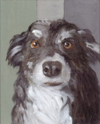 Collie Painting Framed Prints - Trusting Eyes Framed Print by Kazumi Whitemoon