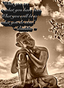 Buddhism Metal Prints - Truths Metal Print by Cheryl Young