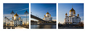 Tryptich - Cathedral Of Christ The Savior Of Moscow City - Features 3 Print by Alexander Senin
