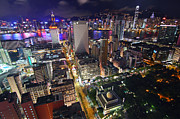 Light Trail Prints - Tsim Sha Tsui in Hong Kong Print by Lars Ruecker