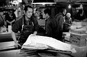 Tsukiji Tokyo Fish Market Print by Sebastian Musial