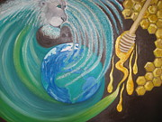 God Art - Tsunami of God by Rachael Pragnell
