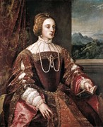 Portrait Of Woman Photo Framed Prints - Ttitia, Tiziano Vecello, Also Called Framed Print by Everett