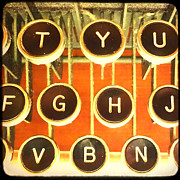 Pattern Books Posters - TTV Typewriter Keys Poster by Tiffany Dawn Smith