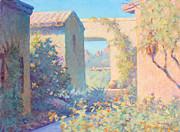 Tubac Village Center Print by Ernest Principato