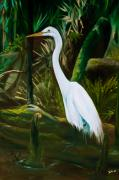 Tropical Wildlife Paintings - Tucked Away by Eve  Wheeler