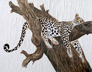 Wildlife Mixed Media Originals - Tuckered Out by Stephanie Grant
