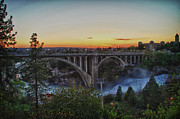 Spokane Framed Prints - Tuesdays Sunset Framed Print by Dan Quam