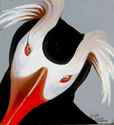 Puffin Paintings - Tufted Puffin Portrait by Nicoletta Filarski