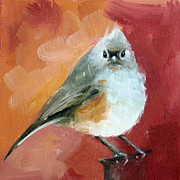Titmouse Paintings - Tufted Titmouse by Faith Frykman