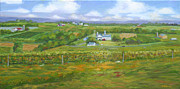Winery Paintings - Tug Hill Winery Panorama by Robert P Hedden