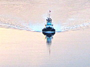 Commencement Bay Prints - Tugboat at dawn Print by Sean Griffin
