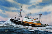 Artist James Williamson Fine Art Prints Prints - Tugboat ISLAND COMMANDER Print by James Williamson