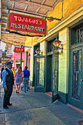 French Doors Prints - Tujagues Restaurant French Quarter New Orleans Print by Kathleen K Parker