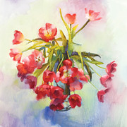 Ornamental Paintings - Tulip Fling by Cathy Locke
