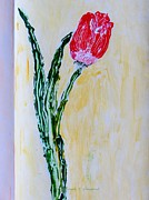 Declaration Of Love Paintings - Tulip for you by Sonali Gangane