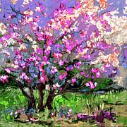 Ginette Fine Art LLC Ginette Callaway - Tulip Magnolia Tree Modern Impressionist Art